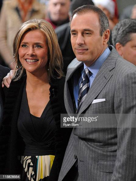 Meredith Vieira and Matt Lauer during Mary J Blige Performs On 'The Today Show' December 15 2006 at Dean and Deluca Plaza at Rockefeller Center in...