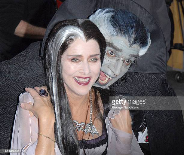 Meredith Vieira as Lily Munster and Al Roker as Grandpa Munster on October 31 2007 at NBC's 'TODAY' Halloween Monster Bash in New York City