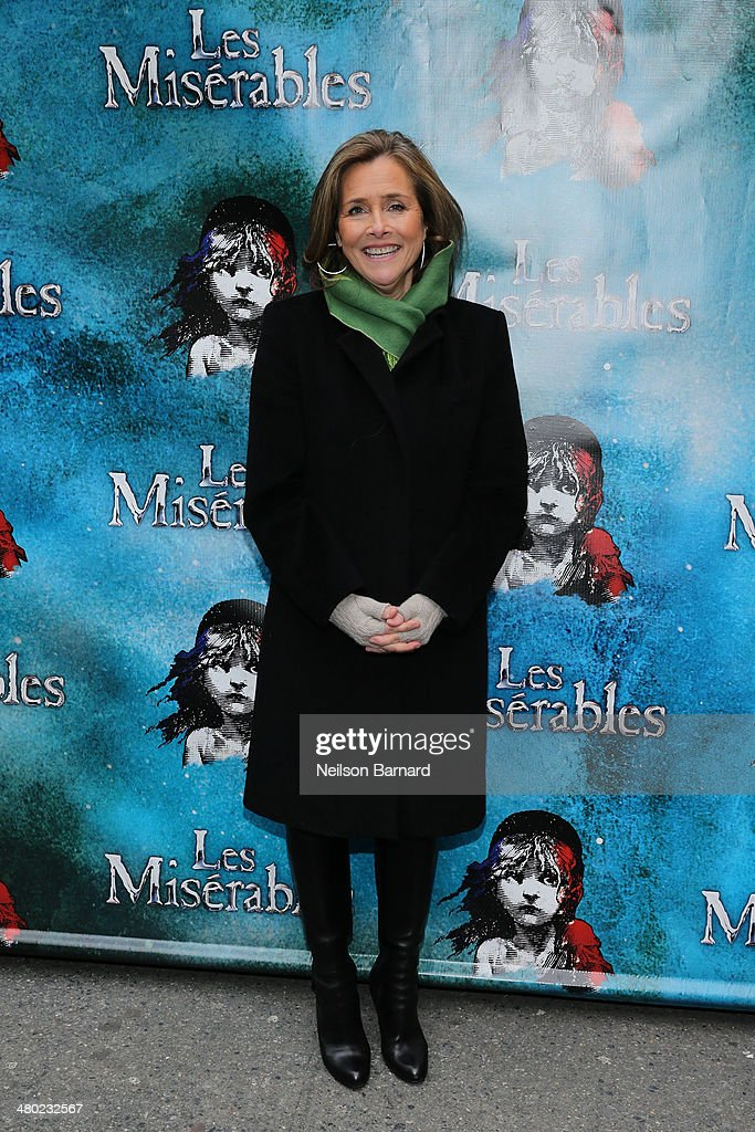 Meredith Vieira attends the opening night of Cameron Mackintosh's new production of Boublil and Schonberg's 'Les Miserables' on Broadway at The Imperial Theatre on March 23, 2014 in New York City.