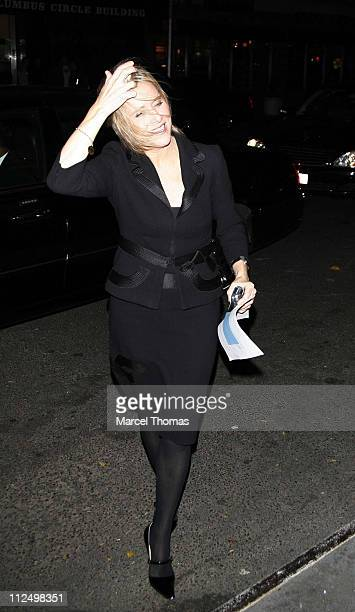 Meredith Vieira during JayZ and Meredith Viera Sighting at the Mandarin Hotel November 9 2006 at Mandarin Hotel in New York New York City United...