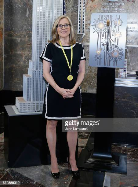 Meredith Vieira visits The Empire State Building on April 25 2017 in New York City
