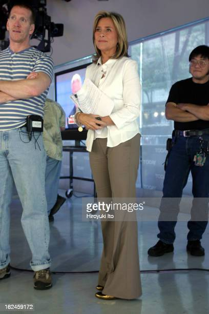 Meredith Viera during the break in NBC's The Today Show on Wednesday morning September 5 2007