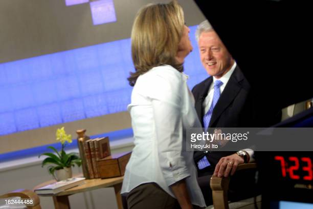 Meredith Viera in NBC's The Today Show on Wednesday morning September 5 2007This imageFormer President Bill Clinton made a surprise guest appearnace...
