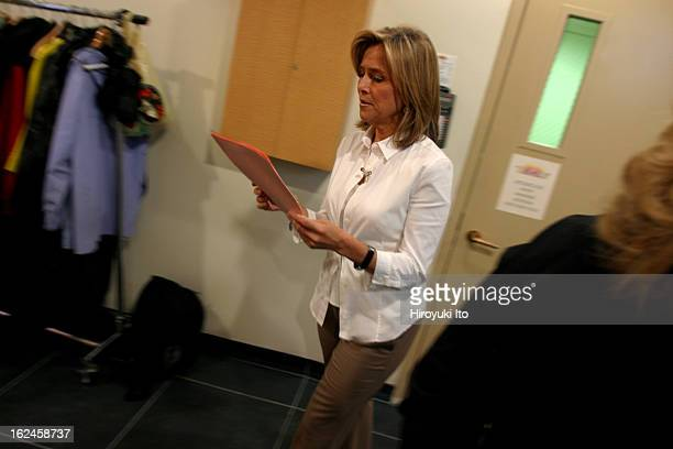 Meredith Viera in NBC's The Today Show on Wednesday morning September 5 2007This imageMeredith looking at news briefs in the hallway of NBC Building...