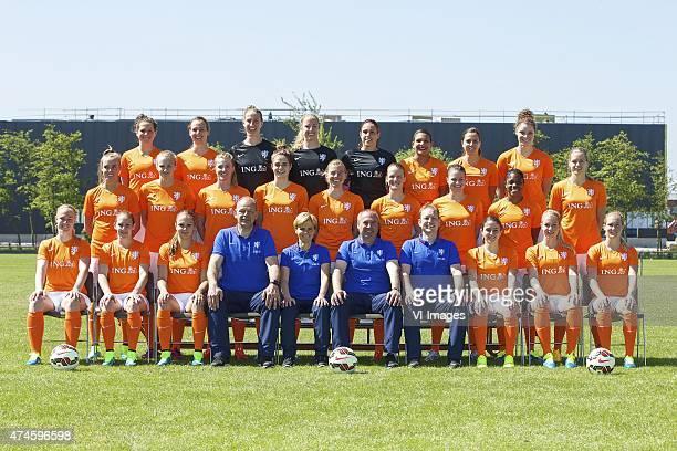 Merel van Dongen of Holland Maran van Erp of Holland goalkeeper Sari van Veenendaal of Holland goalkeeper Loes Geurts of Holland goalkeeper Angela...
