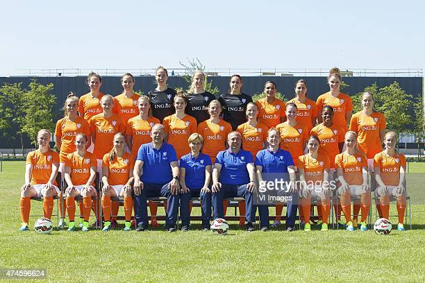 Merel van Dongen of Holland Maran van Erp of Holland goalkeeper Sari van Veenendaal of Holland goalkeeper Loes Geurts of Holland goalkeeper Angela...