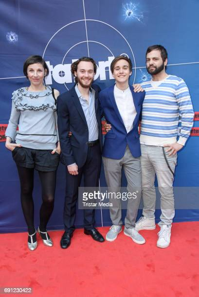 Meret Becker Aaron Hilmer Louie Betton and Aleksandr Tesla during the 'Tatort Amour fou' Preview And Photo Call in Berin Deutschland 2017 at ISS on...