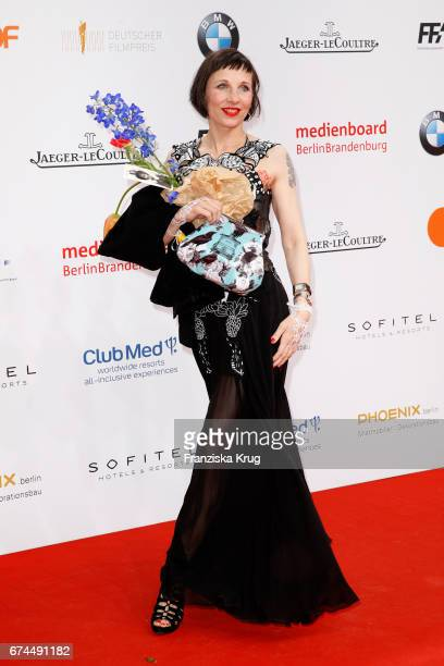 Meret Becker during the Lola German Film Award red carpet arrivals at Messe Berlin on April 28 2017 in Berlin Germany