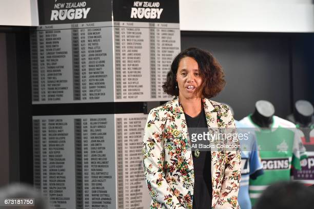 Merewaakana Kingi speaking during the New Zealand Maori Rugby Board AGM at New Zealand Rugby House on April 26 2017 in Wellington New Zealand