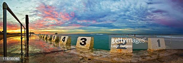 Merewether Baths Sunrise pano