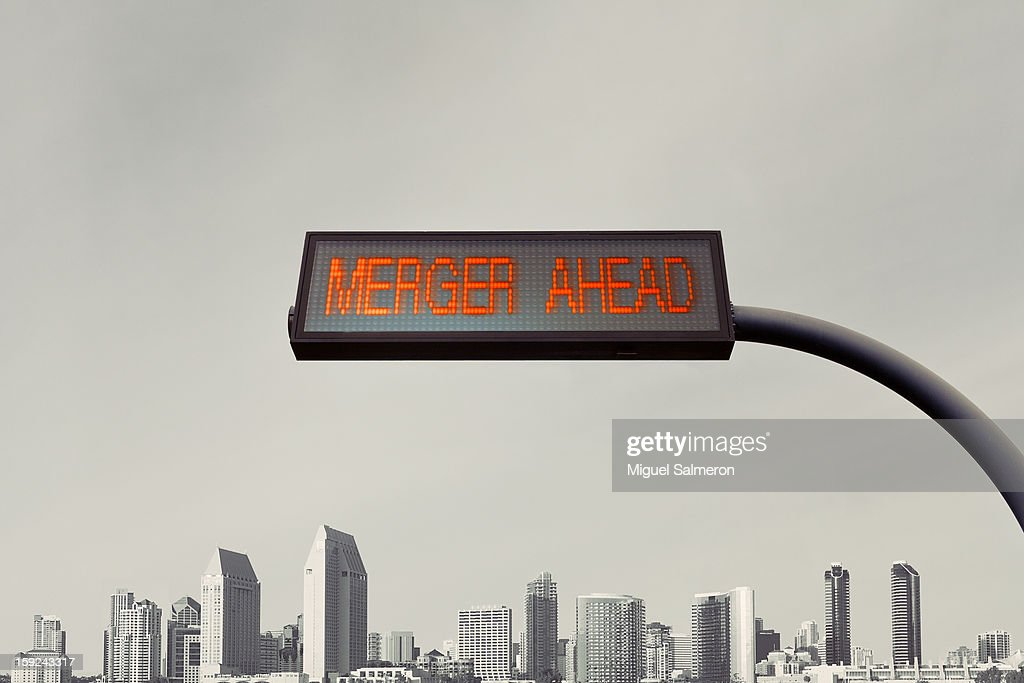 Merger Ahead : Stock Photo