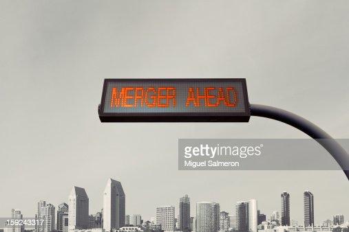 Merger Ahead : Stock Photo