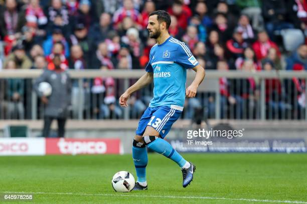 Mergim Mavraj of Hamburg controls the ball during the Bundesliga match between Bayern Muenchen and Hamburger SV at Allianz Arena on February 25 2017...