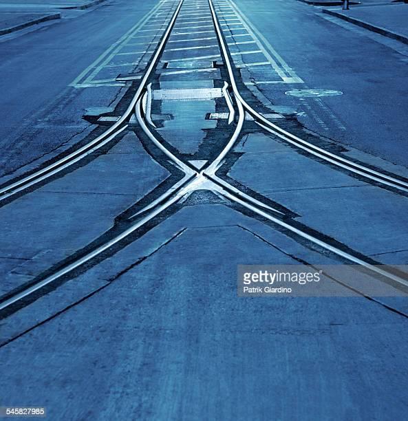 Merging Streetcar Tracks