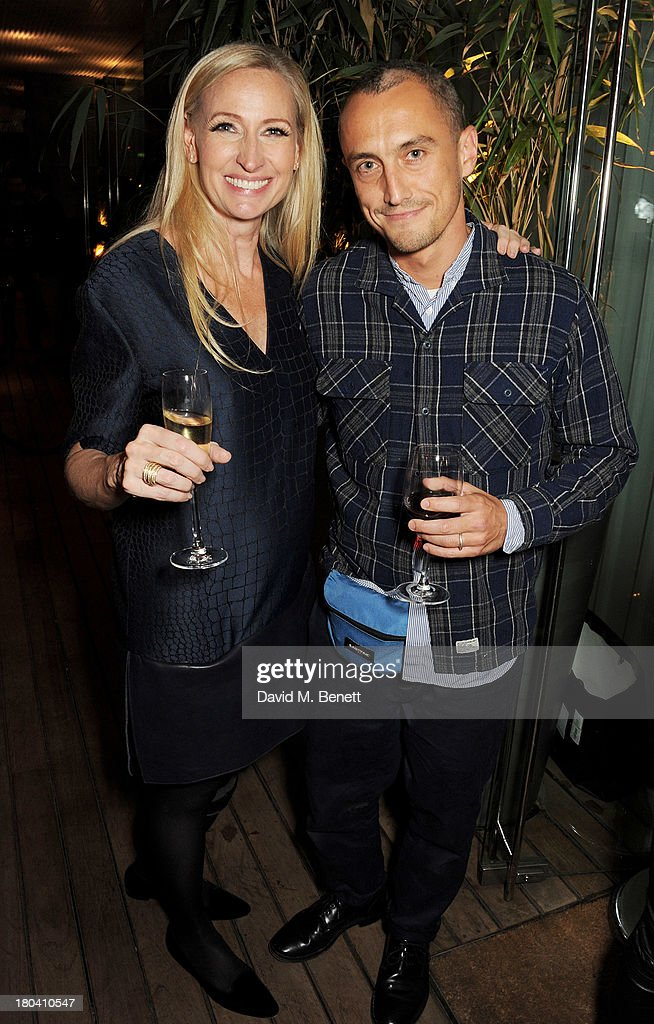 Meribeth Parker (L) and Richard Nicoll attend the ELLE Magazine drinks reception celebrating London Fashion Week SS14 at the Sanderson Hotel on September 12, 2013 in London, England.