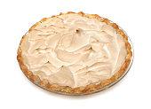 Meringue Pie on a white background
