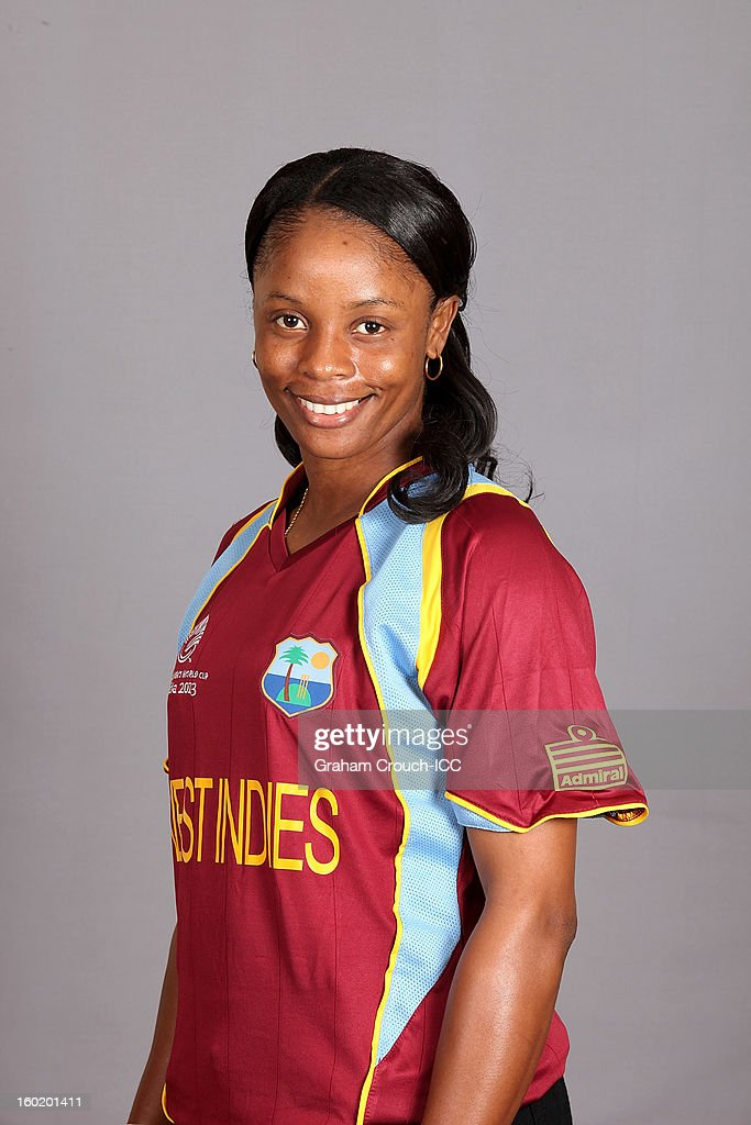 Merissa Aguilleira,Captain of West Indies poses at a portrait session ahead of the ICC Womens World Cup 2013 at the Taj Mahal Palace Hotel on January 27, 2013 in Mumbai, India.