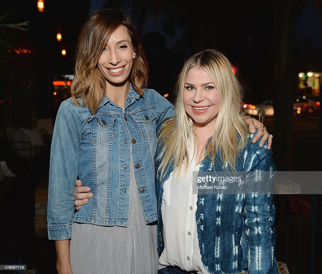Meritt Elliott (L) and Emily Current attend Anthropologie Celebrates A Denim Story by Emily Current, Meritt Elliott and Hilary Walsh at PaliHotel on March 11, 2014 in Los Angeles, California.