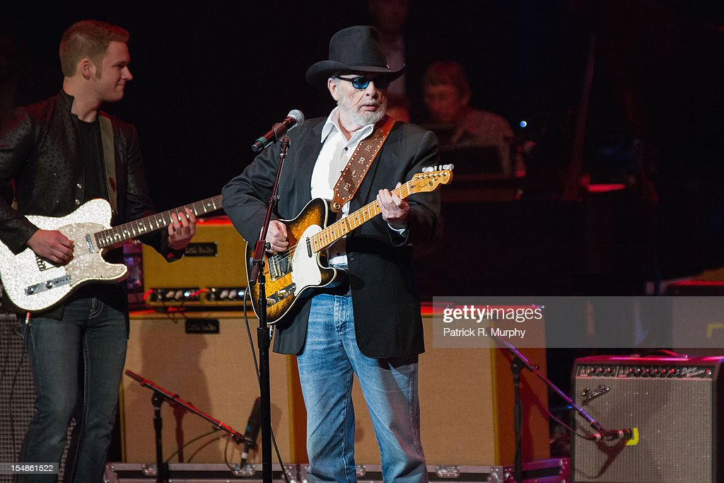 Merle Haggard performs during the Chuck Berry Tribute Concert at the State Theatre on October 27, 2012 in Cleveland, Ohio.
