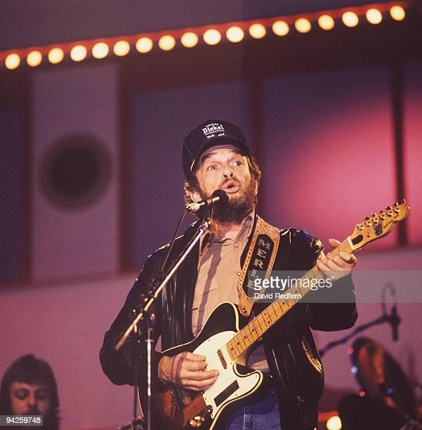 Merle Haggard performs on stage at the Country Music Festival held at Wembley Arena London in April 1988