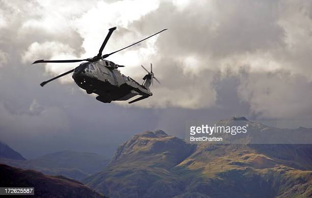 Merlin Hubschrauber Patroling Gebirge Cumbrian Mountains
