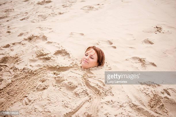 Mermaid in sand