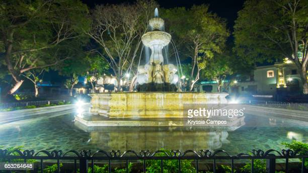 Mermaids Fountain at Town Square of Antigua, Guatemala