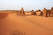 Black pharaos pyramids