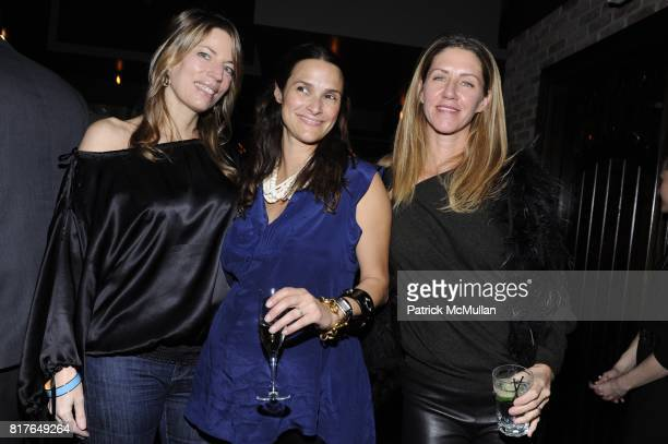 Merrie Harris Sarah Ruffin Costello and Lenora Mahoney attend LUCY SYKES RELLIE'S BIRTHDAY PARTY at Park Avenue Tavern on December 6th 2010 in New...