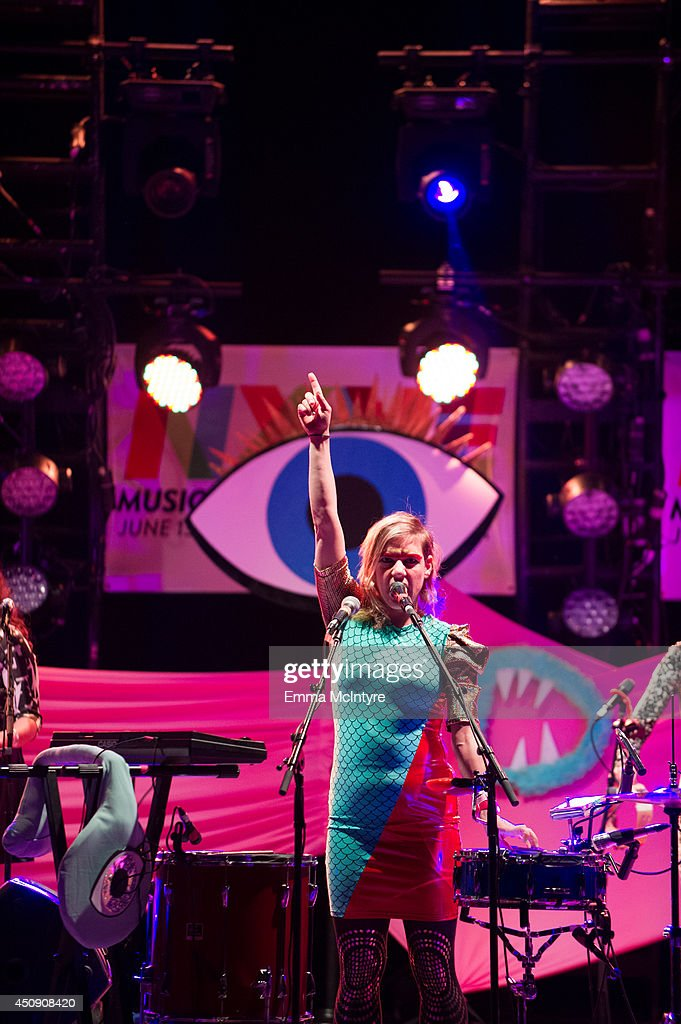 Merrill Garbus and Tune-Yards perform at the 2014 NXNE Festival on June 19, 2014 in Toronto, Canada.