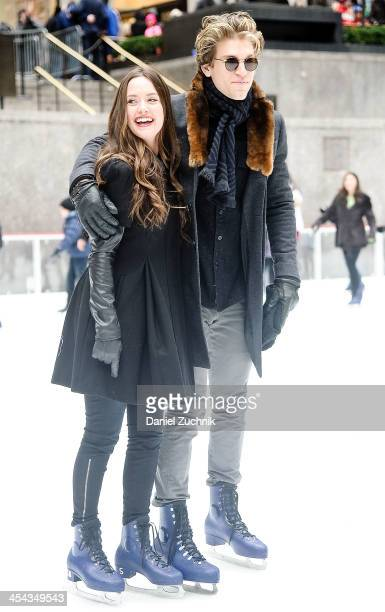Merritt Patterson and Keegan Allen attend 25 Days Of Christmas Winter Wonderland event at Rockefeller Center on December 8 2013 in New York City
