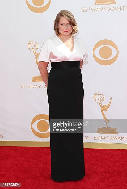 Merritt Wever arrives at the 65th Annual Primetime Emmy Awards at Nokia Theatre LA Live on September 22 2013 in Los Angeles California