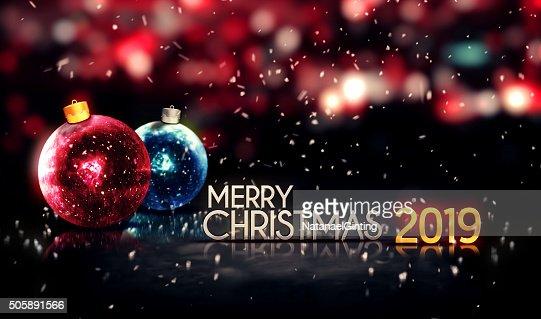 Buon Natale 3d.Buon Natale 2019 Notte Bokeh Bella 3d Sfondo Foto Stock Thinkstock