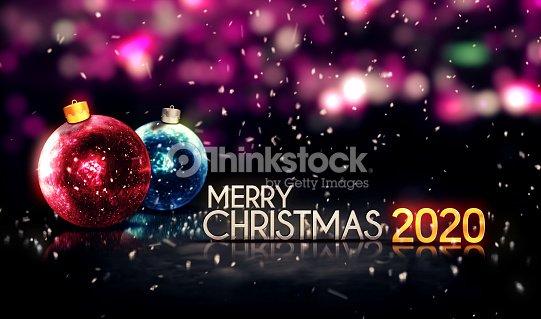 Merry Christmas 2020 Night Bokeh Beautiful 3d Background ...