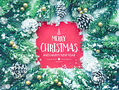 Merry christmas and happy new year ,typography,text with christmas ornament decoration design