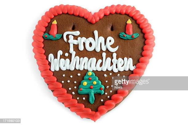 Merry Christmas decoration gingerbread cookie heart