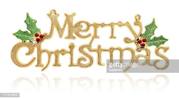 Merry Christmas (clipping path! XXXL) isolated on white