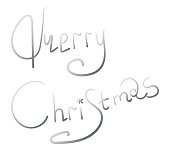 Merry Christmas text Calligraphic Lettering design card template.Creative typography for Holiday Greeting Gift Poster. Calligraphy Font style Banner