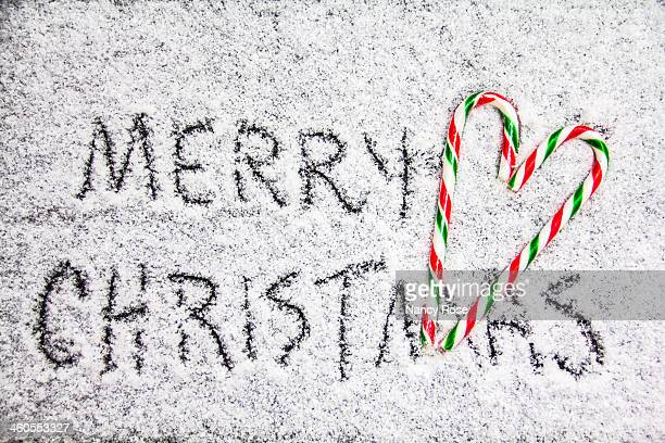 Merry Christmas written in snow