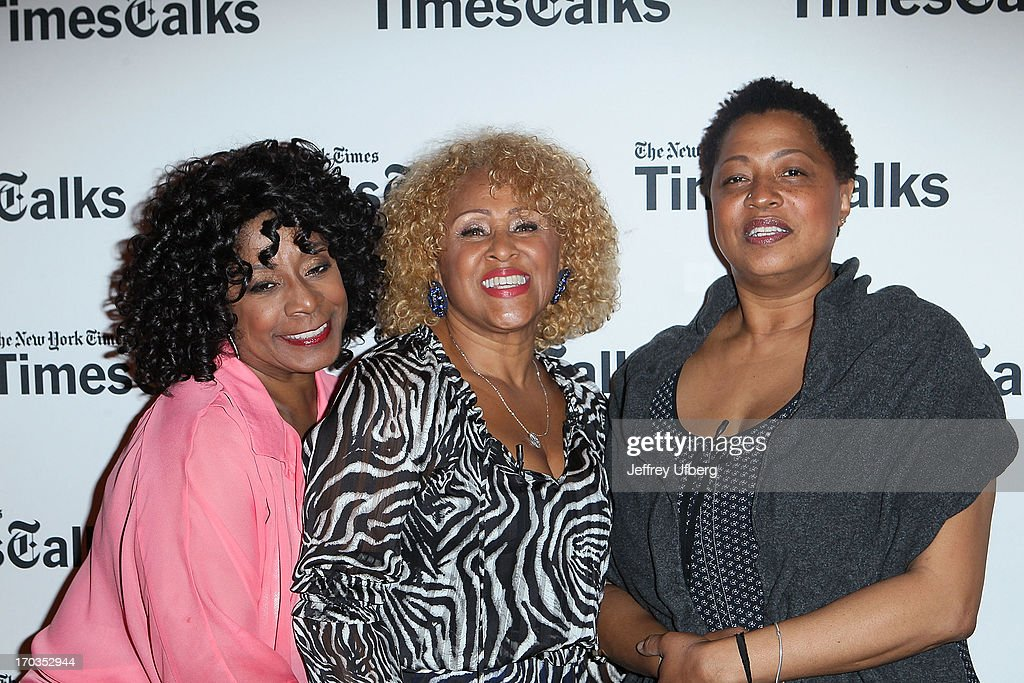 Merry Clayton, <a gi-track='captionPersonalityLinkClicked' href=/galleries/search?phrase=Darlene+Love&family=editorial&specificpeople=220743 ng-click='$event.stopPropagation()'>Darlene Love</a> and Lisa Fischer attend 'Twenty Feet from Stardom at TheTimesCenter on June 11, 2013 in New York City.
