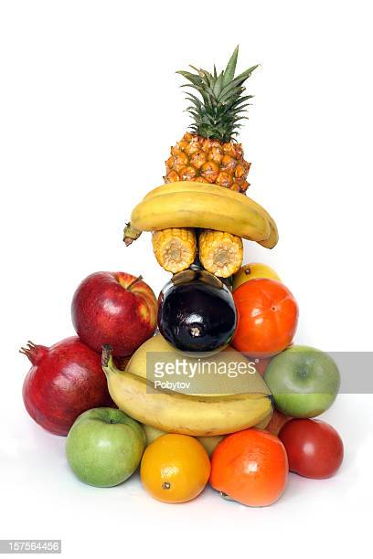 merry face-fruits