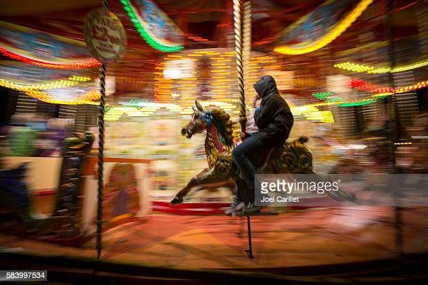 Merry-go-round in London, England