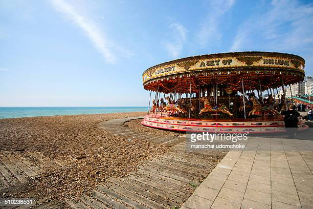 Merrygoround is one of the most attraction place in Brighton beach It located next to the Brighton pier