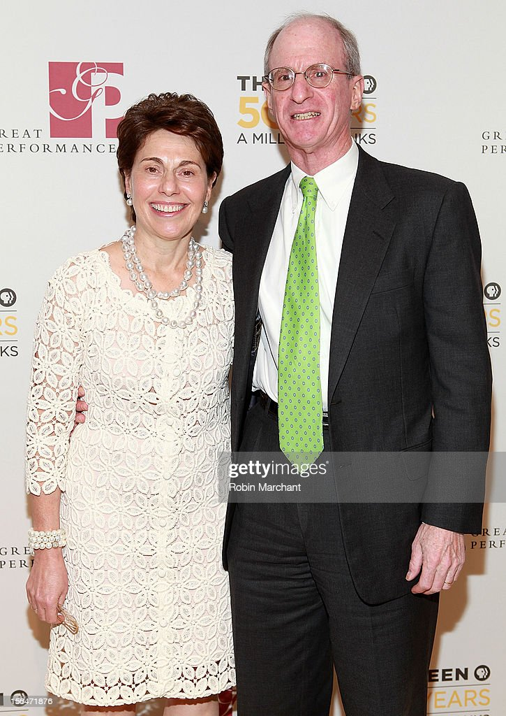 Merryl Tisch (L) and James Tisch attend the THIRTEEN 50th Anniversary Gala Salute at David Koch Theatre at Lincoln Center on November 15, 2012 in New York City.