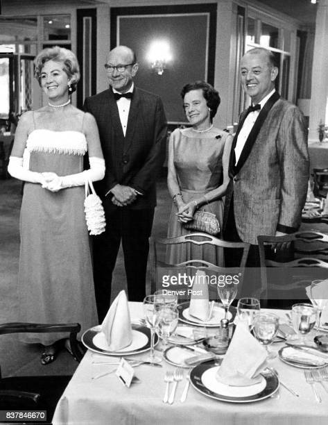Merrymakers at a recent black tie dinner dance at the Denver Country Club were from left Mrs Katheryn Kemp William White Mrs White and Fred Packard...