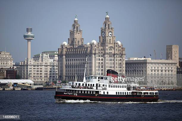 Mersey Ferry The Royal Daffodil makes it was across the River Mersey on May 28 2012 in Birkenhead England