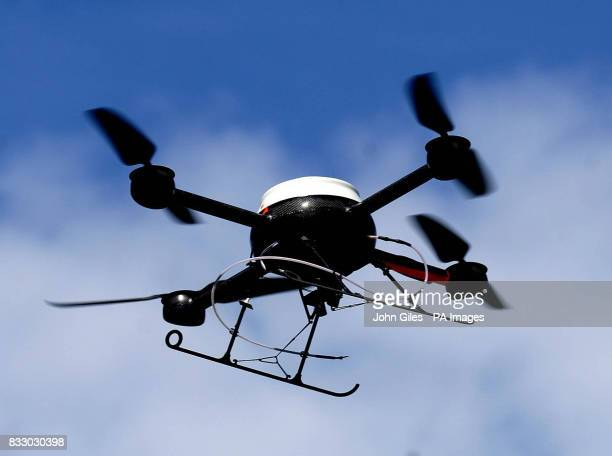 Merseyside Police demonstrate their new aerial surveillance drone in Liverpool