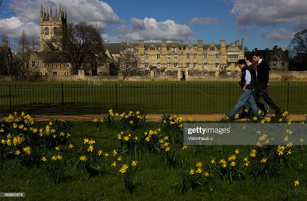 Merton College Oxford in spring Affectionately named 'the city of dreaming spires' by nineteenth century English poet Matthew Arnold a reference to...