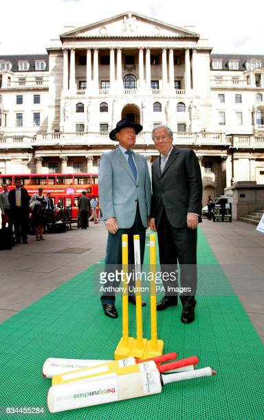 Mervyn King Chance to Shine President and Governor of the Bank of England right was joined by Geoffrey Boycott to launch 'the Big Run Chase' today on...