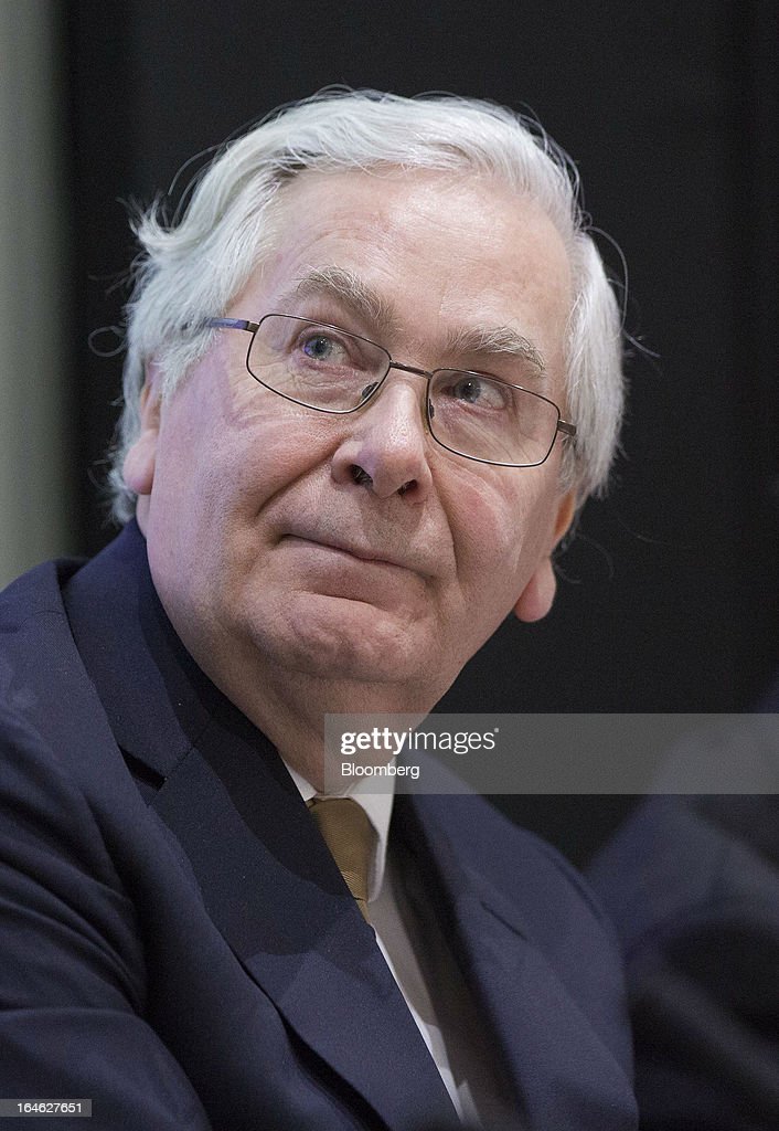 <a gi-track='captionPersonalityLinkClicked' href=/galleries/search?phrase=Mervyn+King+-+Economist&family=editorial&specificpeople=14888473 ng-click='$event.stopPropagation()'>Mervyn King</a>, governor of the Bank of England, speaks during a financial and economic event at the London School of Economics (LSE) in London, U.K., on Monday, March 25, 2013. The European Union's decision to recapitalize Cypriot banks by inflicting losses on depositors and senior bondholders is triggering investor concern about the knock-on effects for bank funding across the region. Photographer: Jason Alden/Bloomberg via Getty Images